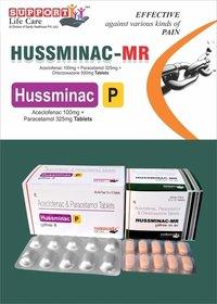 Aceclofenac 100mg + Paracetamol 325mg + Chlorzoxazone 500mg