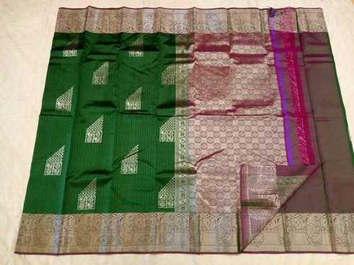 Fancy Soft Silk Saree - 7