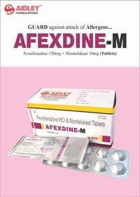 Fexofinadine 120mg + Montelukast 10mg Tablets