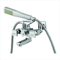 CUBIX WALL MIXER WITH CRUTCH WITH TELEHONIC SHOWER
