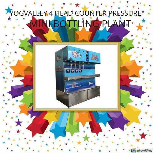Counter Pressure 4 Head Carbonated(CSD) Mini Bottling Plant