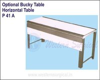 Optional Bucky Table Horizontal Table