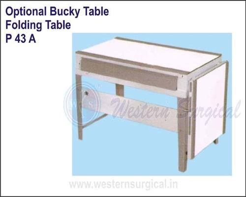 Optional Bucky Table Folding Table
