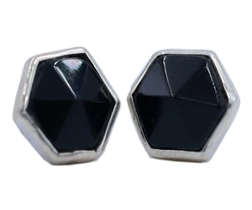 Black Onyx 925 Silver Gemstone Stud Earring