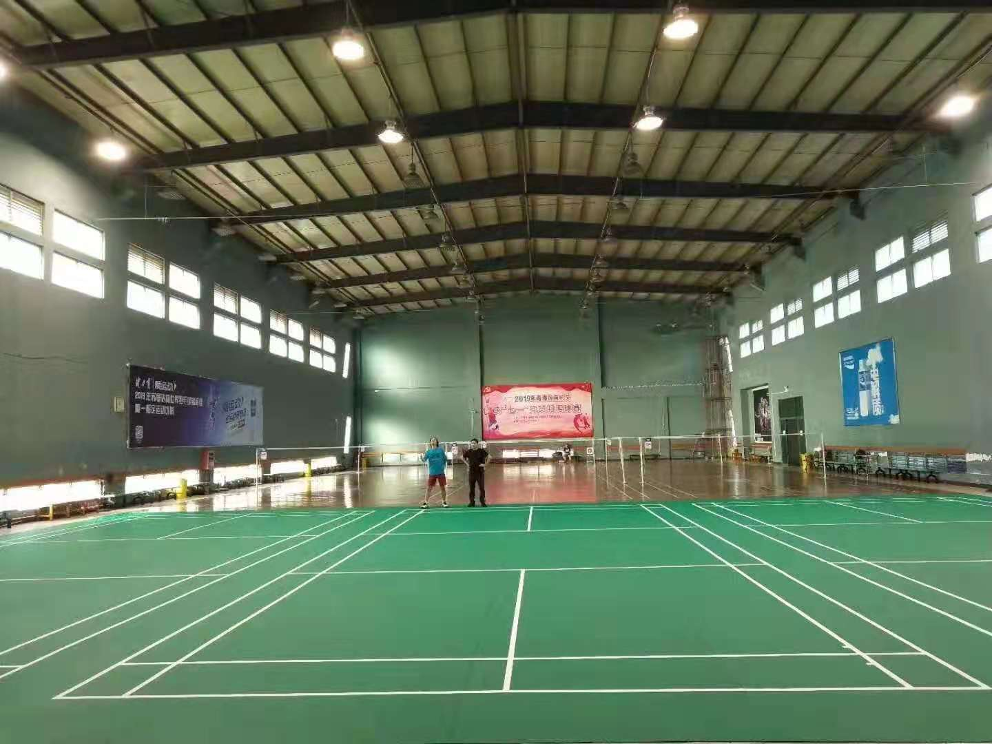 BWF approved 4.5mm sand surface PVC badminton flooring