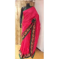 Hand Embroidered Silk Saree