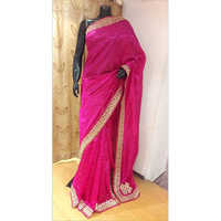 100% Pure Silk Zari Embroidery Saree