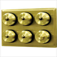 Brushed Brass Finish Heritage Switches