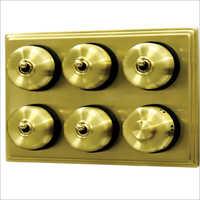 Brushed Brass Finish Heritage Switches