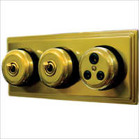Old Brass Finish Switches