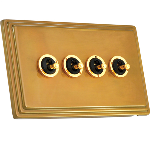 Old Brass Finish Dolly Switch