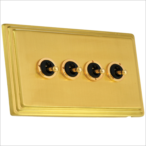 Brushed Brass Finish Dolly Switch