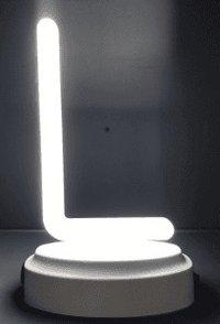 "LETTER ""L"" PLASTIC NEON LIGHT"