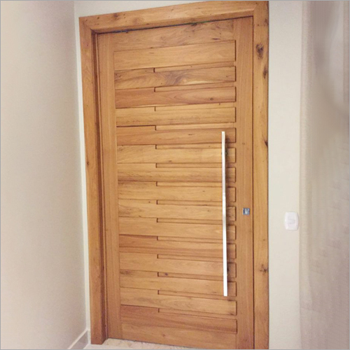 Teak Wood Batten Door