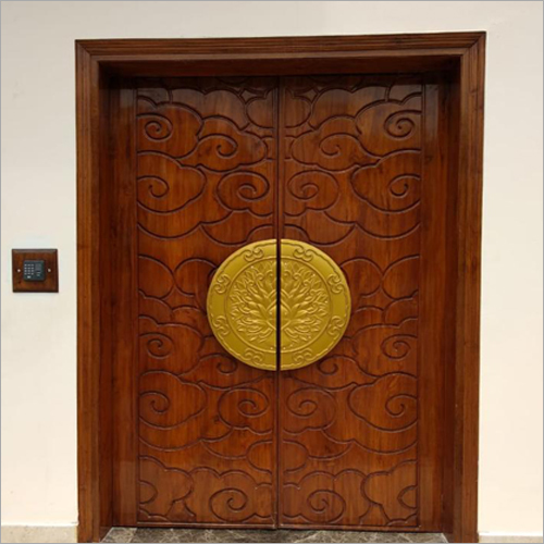 Imported Teak Wood Carved Main Door