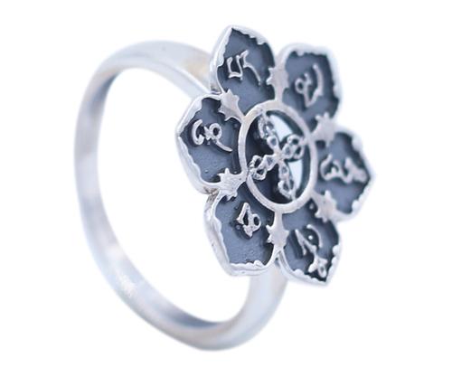 Flower Design 925 Silver Ring