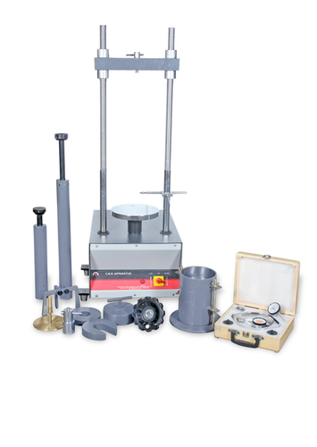 Laboratory Cbr Apparatus - Electric Operated With 10 kn Proving Ring