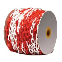 Red and White Plastic Chain