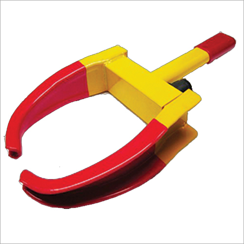 Yellow Red Anti Theft Car Wheel Tyre Lock