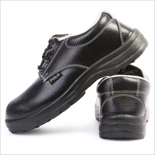 Polo Indcare Steel Toe Black Safety Shoes