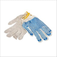 PVC Dotted Blue Hand Gloves
