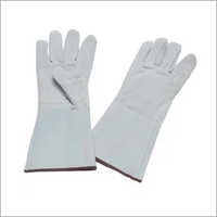 Leather White Hand Glove