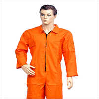 Work Wear Cotton Dangri Orange Boiler Suit