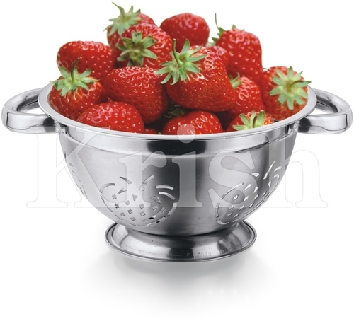 German Colander With Strawberry Cutting & Riveted pipe Handle