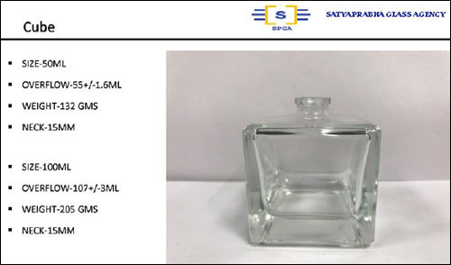 50ML  Cube Glass Perfume Bottle