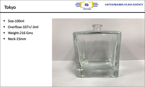 100ML Tokyo Glass Perfume  Bottle