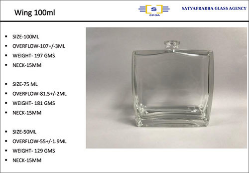 Wing Glass Purfume Bottle