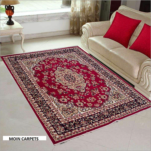 Red Floral Traditional Style Floor Carpet