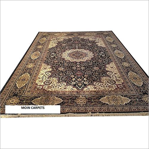 Kashmiri Silk Black Carpet