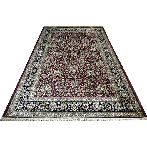 Kashmir Silk Pink Indian Carpet
