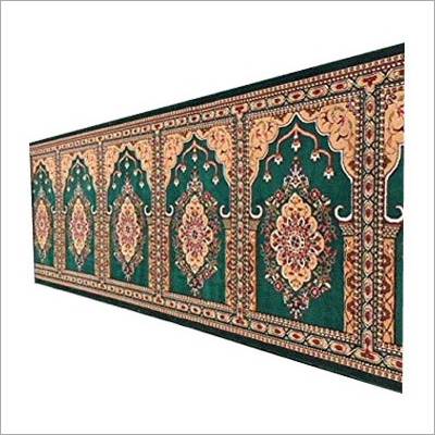 Designer Janamaz Green Carpet Roll