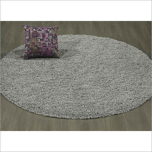 Traditional Soft Round Plain Carpet