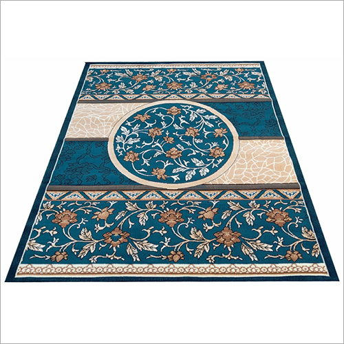 Modern Design Soft Acrylic Wool Thick Blue Carpet