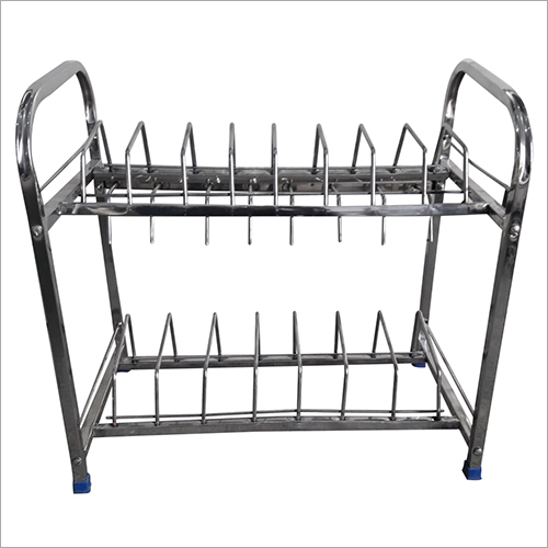 2 Tier Stainless Steel Kitchen Dish Rack
