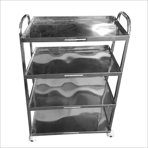 4 Tier Stainless Steel Hospital Trolley