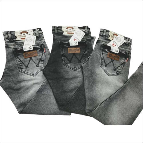 Mens Black Shaded Jeans