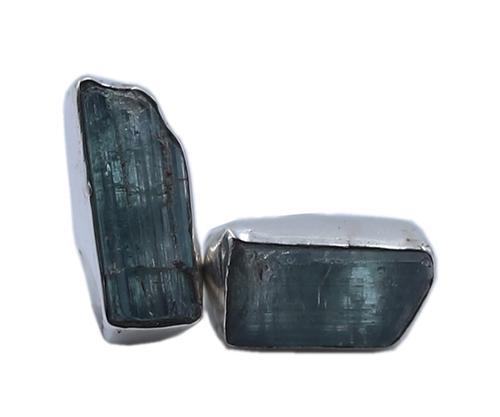 Graceful Moldavite Stone 925 Silver Stud Earring