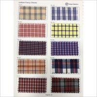 Cotton Check Uniform Fabric
