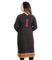Ethnava  Cotton Straight Lucknowi Chikankari Kurti