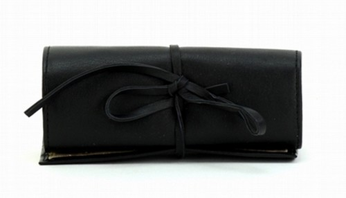JEWELLERY ROLL BAG BLACK