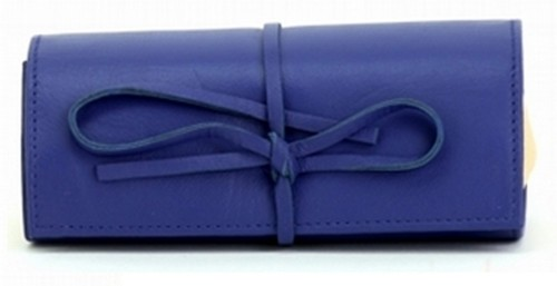 BLUE JEWELLERY ROLL BAG