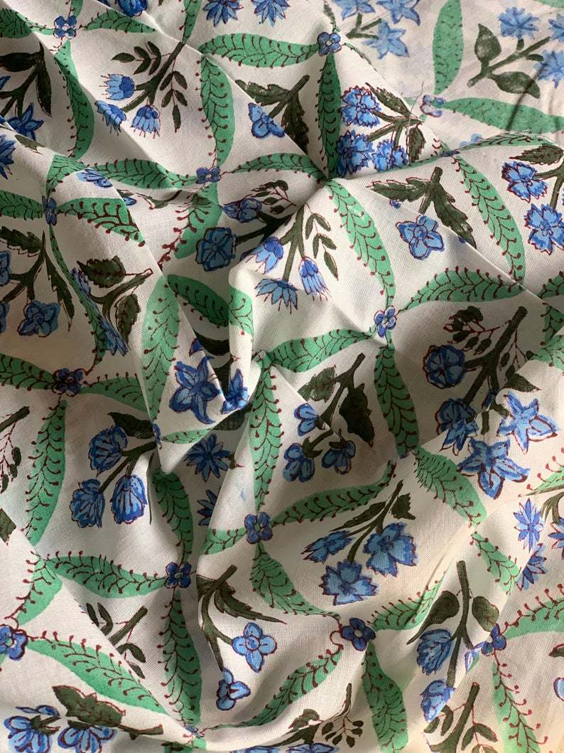 Floral Printed Block Print Fabric