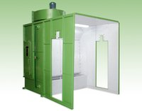 Wet Water Curtain Paint Booth