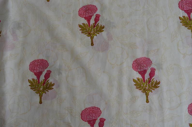 Sanganri Floral Print Fabric