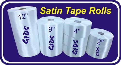Satin tape rolls