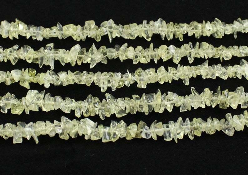 Lemonquartz Uncut Chips Beads, Lemonquartz Chips Bead, 36 Inches Strand